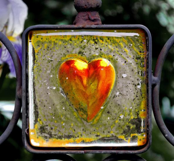 Gartenstecker mit Herz - Mein Beitrag für das Montagsherz #96