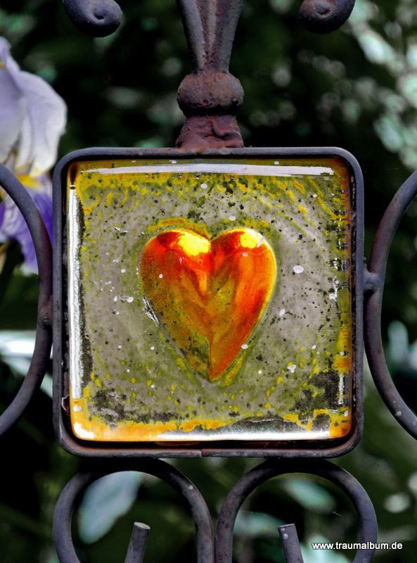 Gartenstecker mit Herz