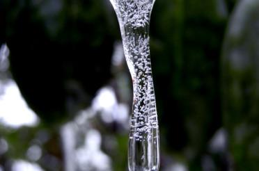 Eistropfen im Garten