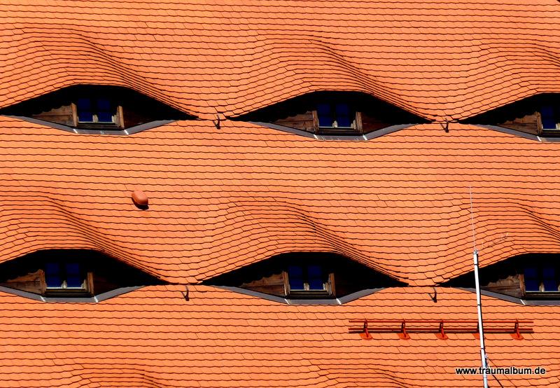 Fenster wie Augen, gesehen in Freiberg