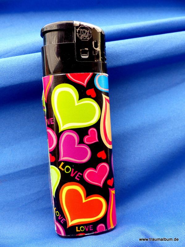 Feuerzeug - Feuerzeug mit Herzen für das Montagsherz #104