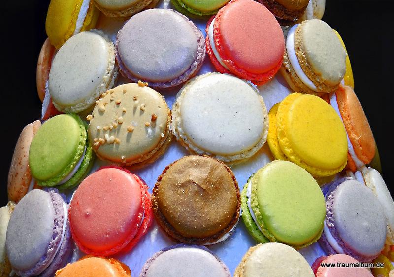 Macarons verlockend und in allen Farben