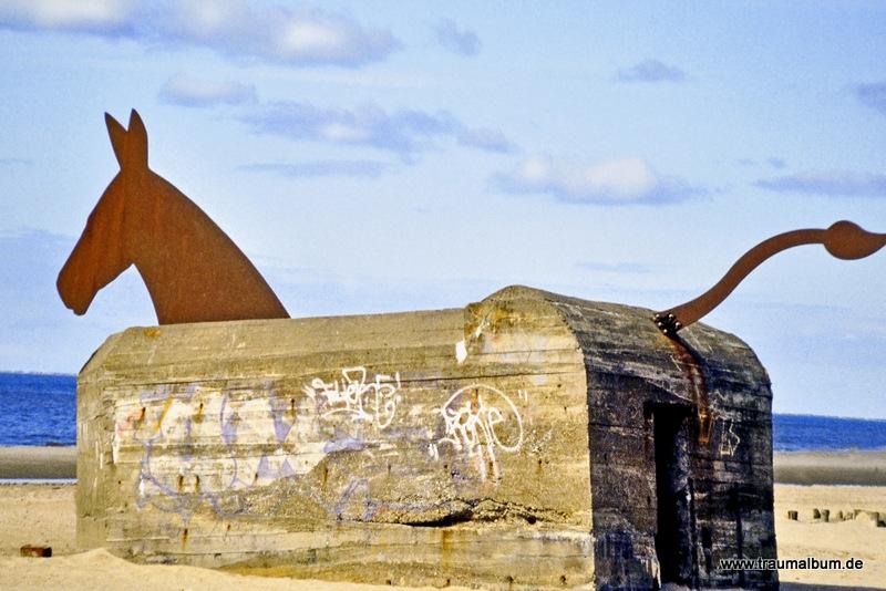 Wehrmachtsbunker in Dänemark für Memorabilien