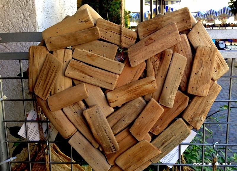 Herz aus Holzspreißel