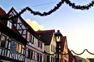 Himmel über Obernburg – kalt und strahlend zugleich