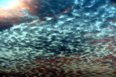 Passatwinde und Wolkenformationen über Teneriffa