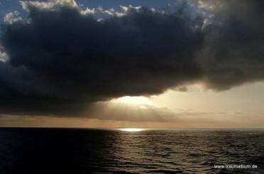 Sonnenuntergang zwischen Gomera und Teneriffa