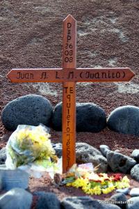 Holzkreuz für einen Verstorbenen