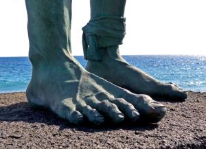 Füße eines Guanchen