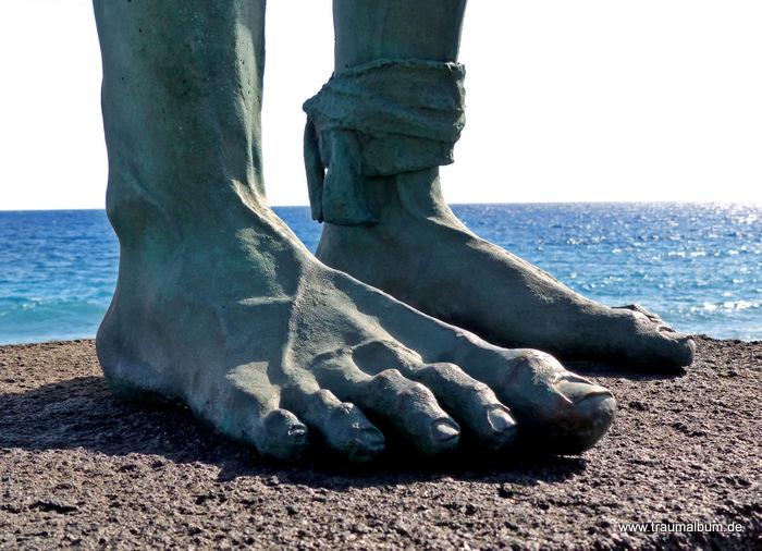 Der Guanche und seine Füße
