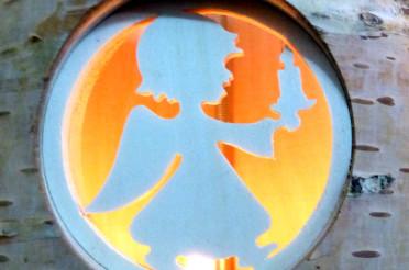 Teelichthalter mit Engel für Send me an Angel #7