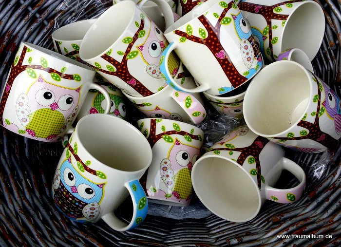 Tassen mit Eulen für Eulen über Eulen #8