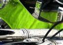 Grüner Stoff spiegelt sich