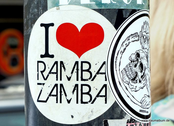 Aufkleber Rambazamba