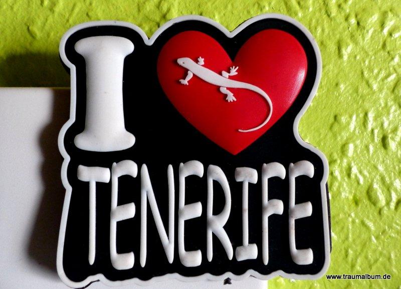 Magnet aus Teneriffa - I Love Tenerife