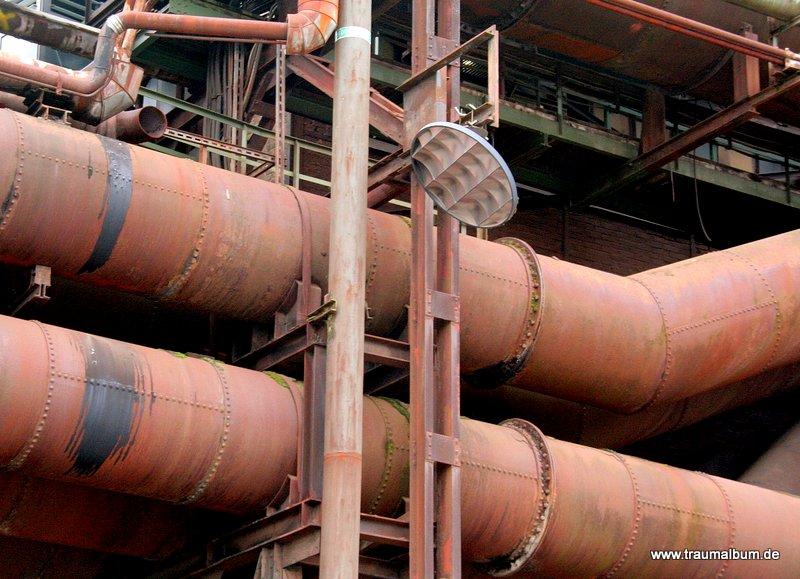 Rohrleitungen im Industriemuseum Völklinger Hütte