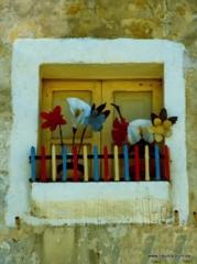 Fenster mit Dekoration