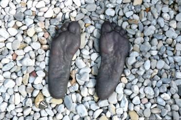Fußabdruck in Glauberg für die Sammlung Pedes