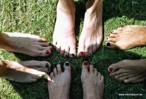 Nagellack auf den Fußnägeln
