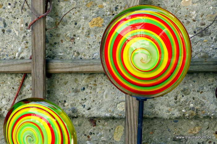 Spirale aus Glas für die Fotoaktion Spiralen ohne Ende #6