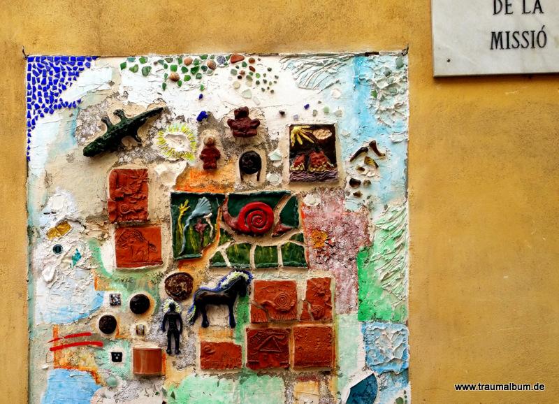 Collage mit kleinen Fundstücken für die Sammlung Arabesque