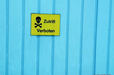 Zutritt verboten für die Fotoaktion Blue Monday