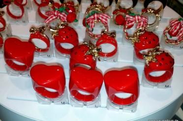 Rote Ringe mit Herz für das Montagsherz #169