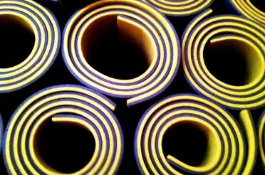 Aufgerollte Matten für Spiralen ohne Ende #14