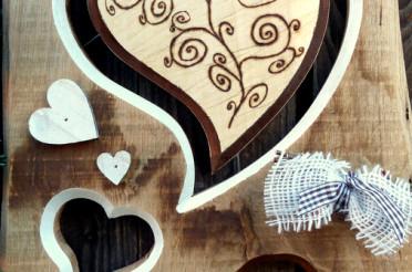 Dekoration aus Holz für das Montagsherz #179