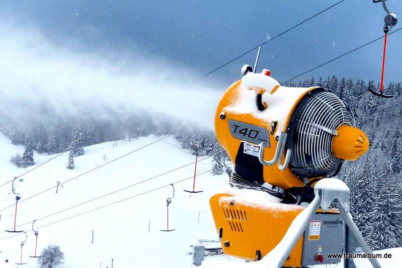 Schneekanone auf dem Sudelfeld