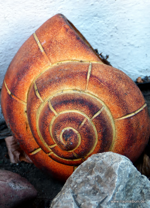 Pflanzgefäß in Schneckenform für Spiralen ohne Ende #16