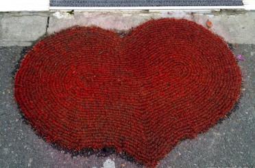 Fußabstreifer mit Herz für das Montagsherz #184