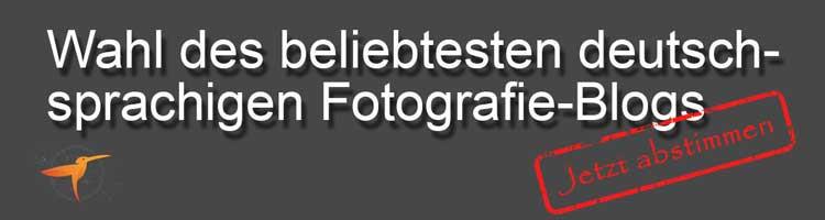 Wahl des beliebtesten deutschsprachigen Fotografie-Blog