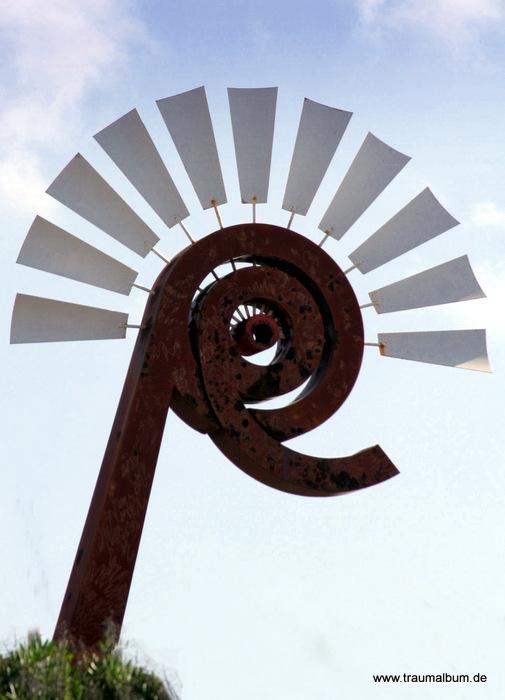Im Windpark auf Lanzarote und Spiralen ohne Ende #21