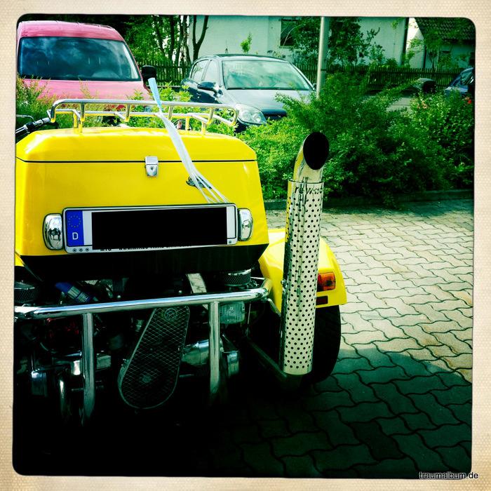 gelbes trike - Das Trike und das Kreative Sonntagsrätsel #32