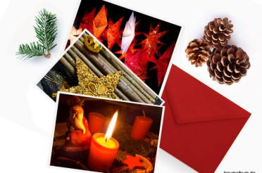 Weihnachtskarten selber machen mit eigenen Fotos
