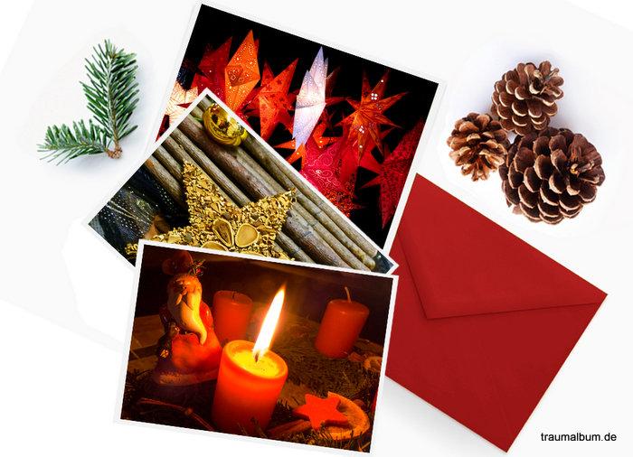 weihnachtskarten selber machen mit eigenen fotos. Black Bedroom Furniture Sets. Home Design Ideas