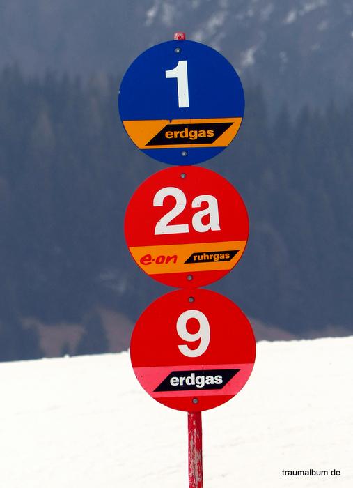 Orientierung im Skigebiet für Eins, Zwei, Drei, Viele