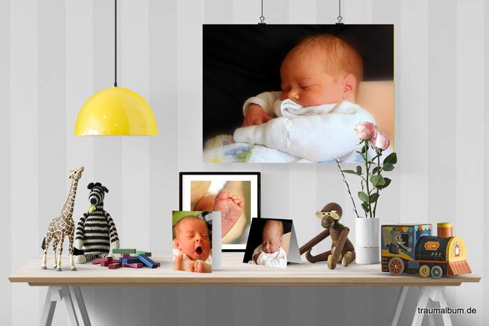 Babyfotos leicht gemacht und schön präsentiert