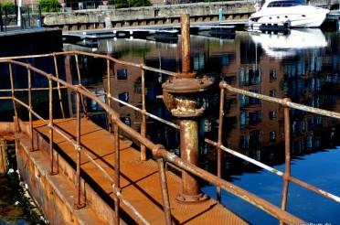 Rostige Wehrbrücke in Trondheim – Die Rostparade