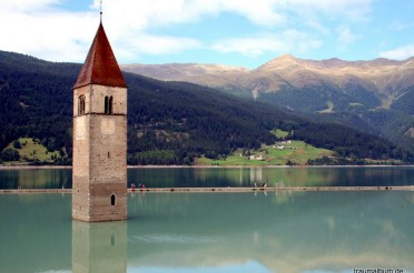 Stau am Reschensee in Südtirol für #PPP14