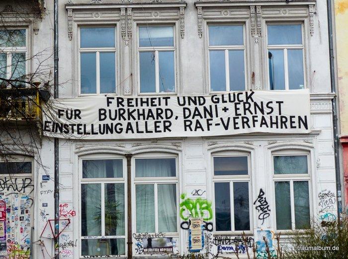 militante Parolen in der Hafenstraße