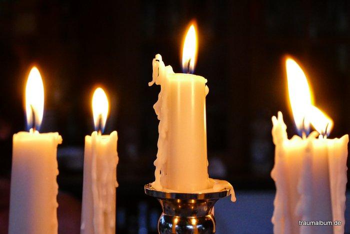 Kerzen sorgen für Erleuchtung
