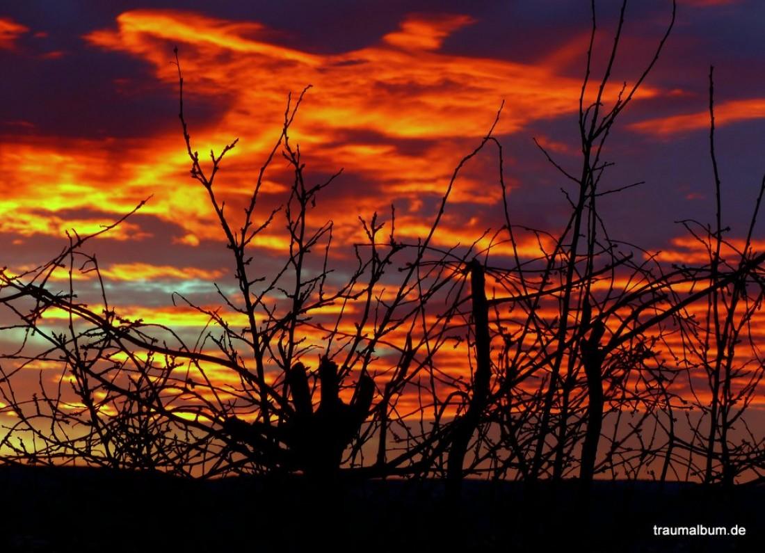 brennender Himmel über Obernburg