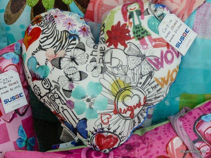 Herziges Kissen aus Spanien für das Montagsherz #265