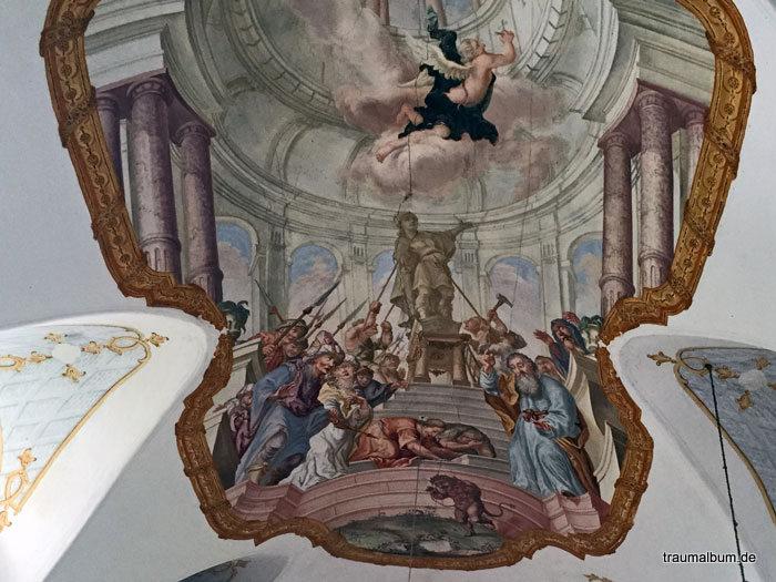 himmlische Kirchenszene