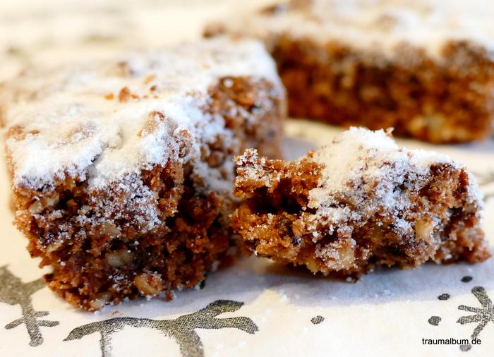 Aus der Weihnachtsbäckerei: Schoko-Zimt-Traum - lecker und saftig