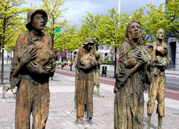 great famine dublin irland hungersnot traumalbum