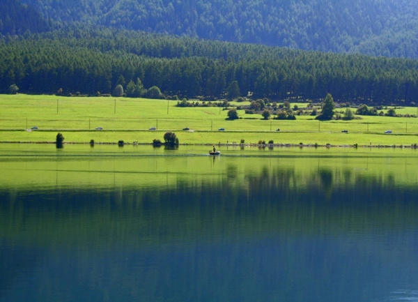 Stille am Reschensee in Südtirol sammlung aqua