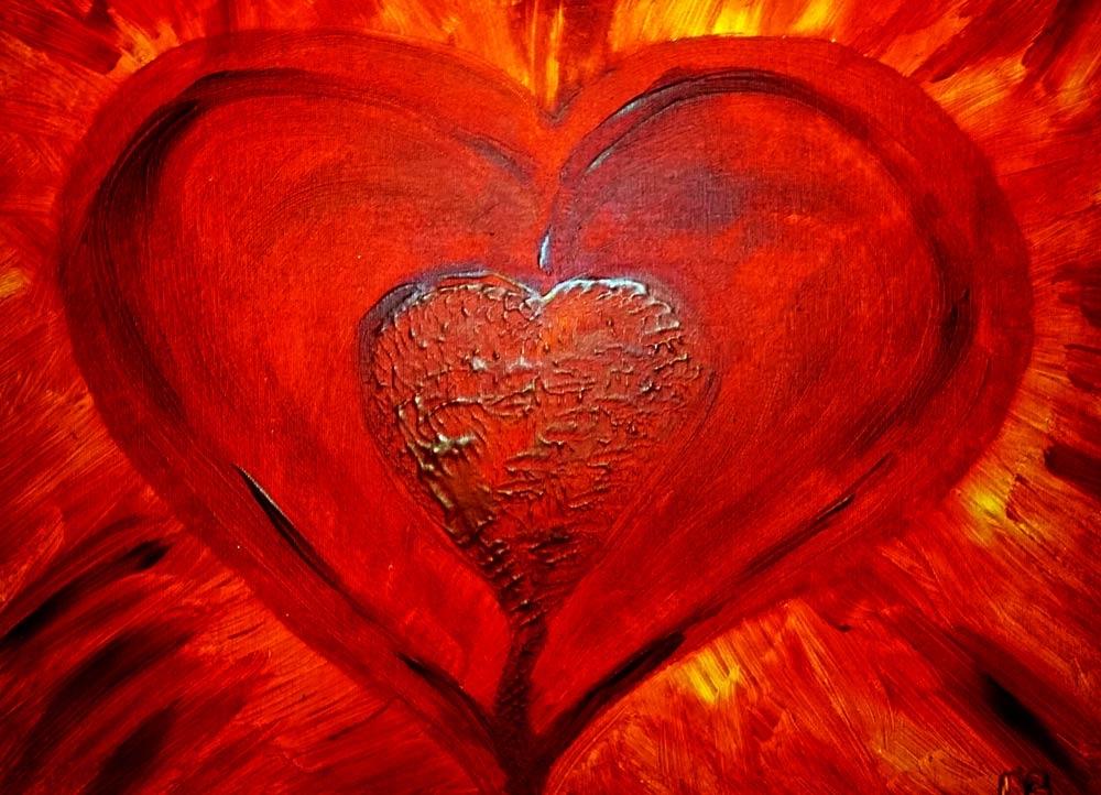 Rotes Herz traumalbum farbrausch